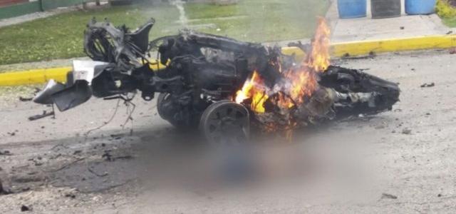 Atentado con carro bomba en la Escuela de Policía de Bogotá deja nueve muertos